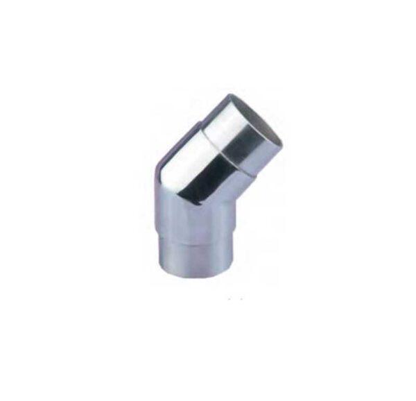 conector tubo redondo inox